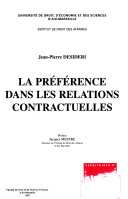 La préférence dans les relations contractuelles