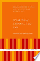 Speaking Of Language And Law