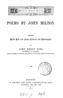 Poems  a selection  ed  with life and notes by J M  Ross