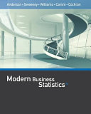 Modern Business Statistics with Microsoft Office Excel  with XLSTAT Education Edition Printed Access Card