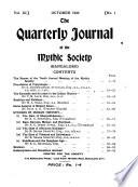 The Quarterly Journal of the Mythic Society (Bangalore, India).