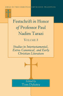Festschrift in Honor of Professor Paul Nadim Tarazi