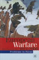 European Warfare 1815 2000