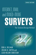 Internet, Mail, and Mixed-Mode Surveys