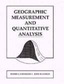 Geographic Measurement and Quantitative Analysis