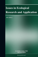 Issues in Ecological Research and Application: 2011 Edition [Pdf/ePub] eBook