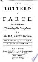 The lottery. A farce, etc. By Henry Fielding