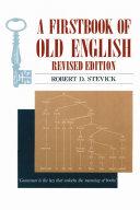 A Firstbook of Old English Pdf/ePub eBook