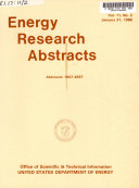 Energy Research Abstracts Book