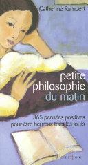 Petite philosophie du matin Pdf/ePub eBook