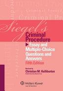 Siegel s Criminal Procedure