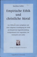 Empirische Ethik und christliche Moral