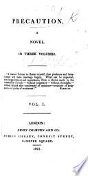 Precaution, a novel. By J. Fenimore Cooper
