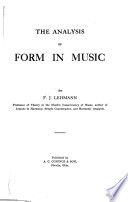 The Analysis of Form in Music