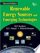 RENEWABLE ENERGY SOURCES AND EMERGING TECHNOLOGIES Book