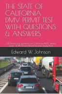 The STATE of CALIFORNIA DMV PERMIT TEST with QUESTIONS and ANSWERS