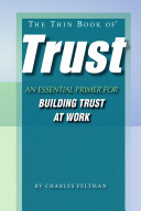 The Thin Book of Trust Book