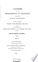 Calendars of the Proceedings in Chancery  in the Reign of Queen Elizabeth Book PDF