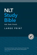 NLT Study Bible Large Print  Red Letter  Hardcover  Indexed