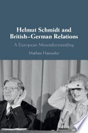 Helmut Schmidt And British German Relations