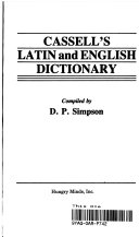 Cassell S Latin And English Dictionary