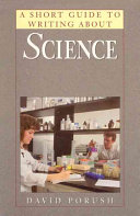 A Short Guide to Writing about Science