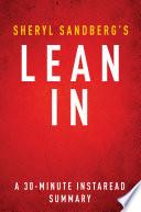 Lean In By Sheryl Sandberg A 30 Minute Summary Book PDF