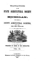 Pdf Transactions of the State Agricultural Society of Michigan; with Reports of County Agricultural Societies
