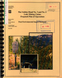 Payette National Forest (N.F.), The Golden Hand No.3 and No.4 Lode Mining Claims Proposed Plan of Operations