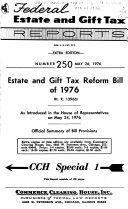 Legislative History of the Tax Reform Act of 1976