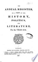 Annual Register  , Volume 61