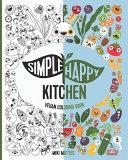 Simple Happy Kitchen Vegan Coloring Book