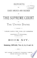 Reports of Cases Argued and Decided in the Supreme Court of the United States