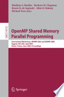 Openmp Shared Memory Parallel Programming Book PDF