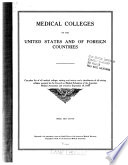 Medical Colleges of the United States and of foreign countries 1918