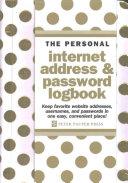 Gold Dots Internet Address & Password Logbook