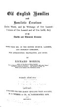 Old English Homilies and Homiletic Treatises