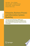Enterprise Business Process And Information Systems Modeling Book PDF