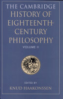 The Cambridge History of Eighteenth century Philosophy