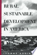Rural Sustainable Development In America Book PDF