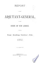 Report of the Adjutant General of New Jersey