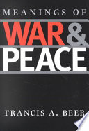 Meanings of War and Peace Book