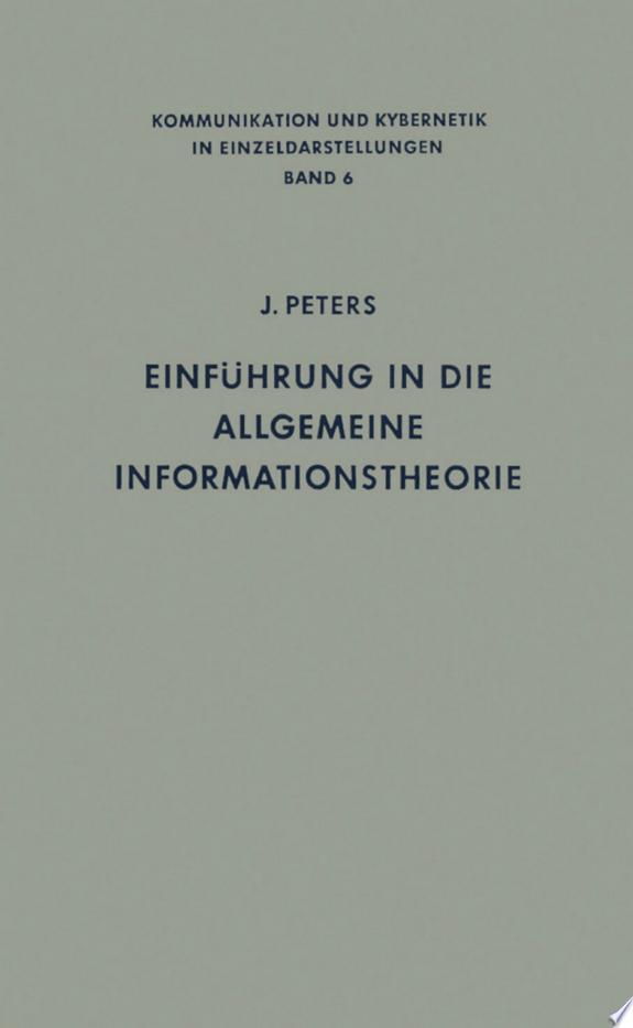Einführung in die allgemeine Infor