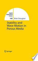 Stability And Wave Motion In Porous Media Book PDF