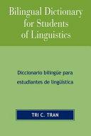 Bilingual Dictionary for Students of Linguistics