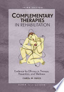 Complementary Therapies In Rehabilitation Book PDF
