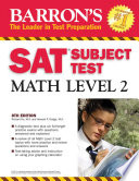 Barron's SAT Subject Test  : Math level 2