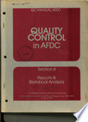 Quality control in AFDC : [the quality control manual]