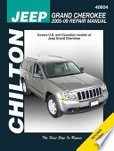 Chilton's Jeep Grand Cherokee 2005-09 Repair Manual