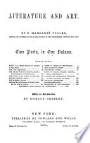 Literature and art. 2 pt. in 1 vol